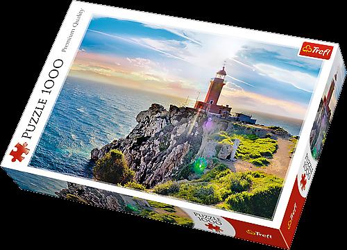 TREFL Puzzle 1000 dílků - Maják Melagavi Řecko 10436