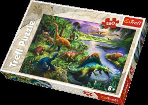 TREFL Puzzle  260 dílků - Dinosauři  13214
