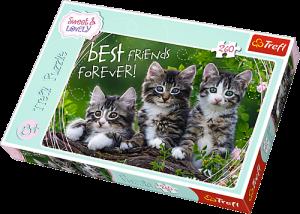 TREFL Puzzle  260 dílků - Sweet & Lovely, Kočíčí kamarádi  13215