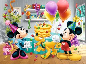 Trefl puzzle 30 dílků - Mickey - Oslava narozenin - 18211