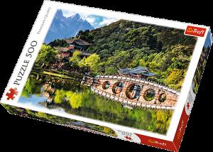 TREFL Puzzle  500 dílků -  Jezero  Černého draka 37258