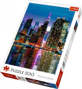 TREFL Puzzle  500 dílků -  Úplněk nad Manhattanem  37261