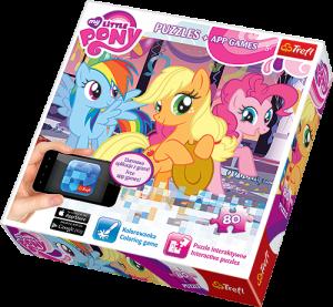 TREFL Puzzle 80 dílků  s aplikací do mobilního telefonu My Little Pony 75100