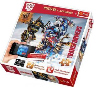 TREFL Puzzle 80 dílků  s aplikací do mobilního telefonu Transformers  75102
