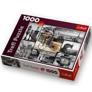 1000 dílků  Paříž - koláž  -  puzzle Trefl