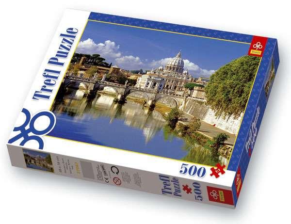 500 dílků Vatikán Řím - Itálie - puzzle Trefl 37087