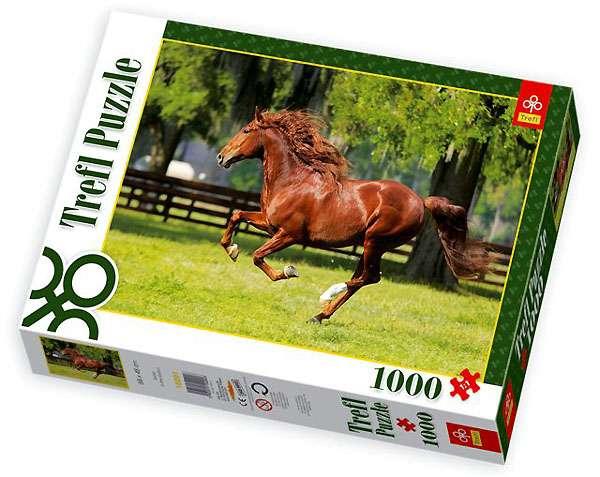 1000 dílků kůň v trysku - puzzle Trefl 10201