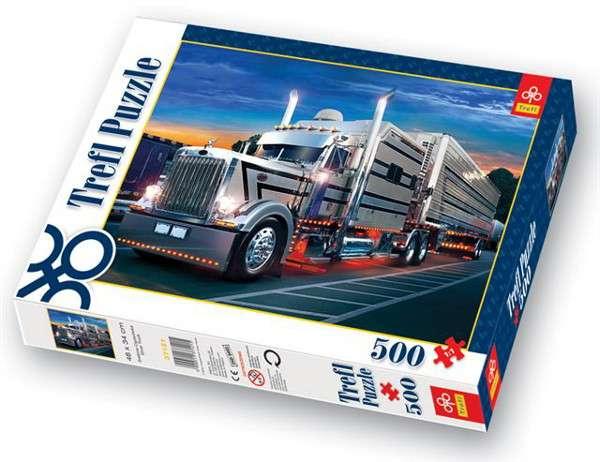 500 dílků Stříbrný kamión - Truck - puzzle Trefl 37121