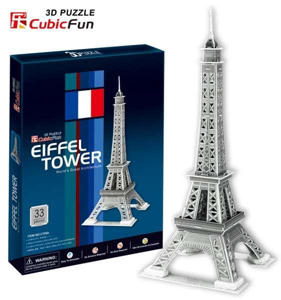 3 D Puzzle CubicFun - Eiffelova věž 33 d. Cubic Fun