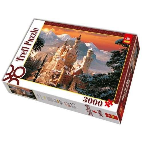 3000 dílků Zámek Neuschwanstein v zimě - puzzle Trefl 33025
