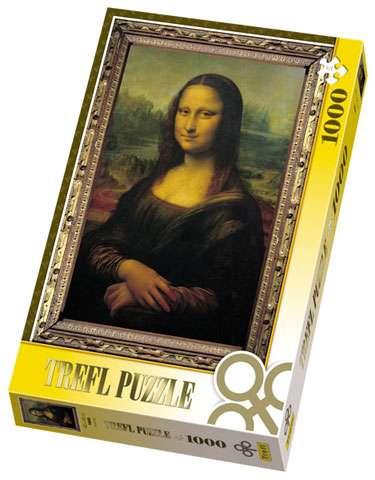 1000 dílků Mona Lisa - puzzle Trefl 10002