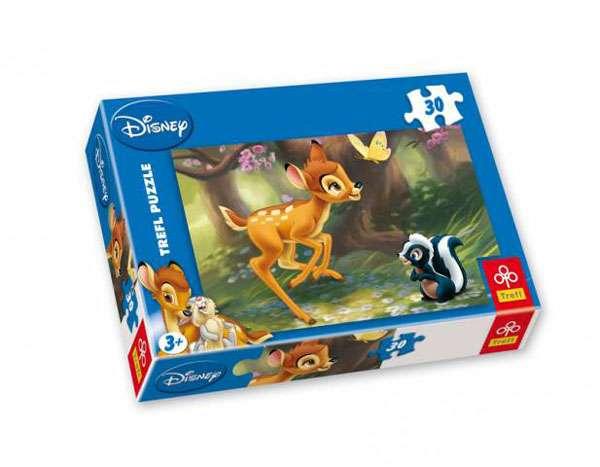 30 dílků - Bambi a skunk - puzzle Trefl 18132