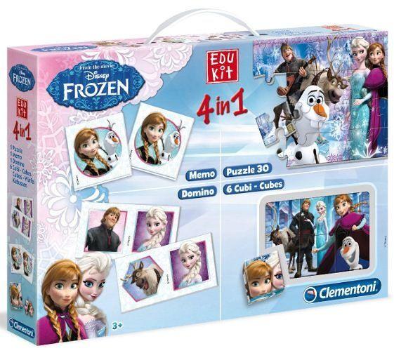 EDUKIT - hry Clementoni - 4v1 Frozen - Ledové království