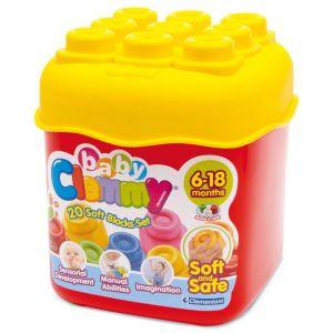 Clemmy Baby 20 barevných kostek v kyblíku základní barvy Clementoni