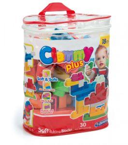 Clemmy Plus, stavebnice 30 dílků -  v plastovém pytli
