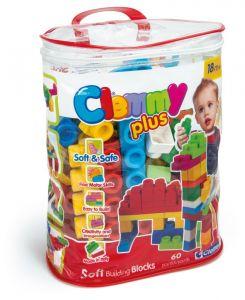 Clemmy Plus, stavebnice 60 dílků -  v plastovém pytli