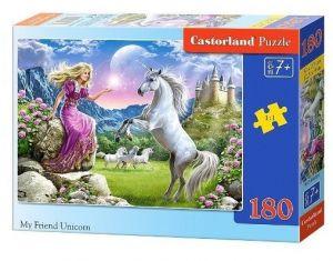 Puzzle Castorland 180 dílků - Můj přítel jednorožec  018024