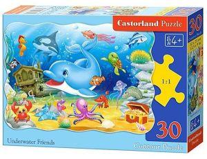 Puzzle Castorland  30 dílků - Delfín a prátelé  03501