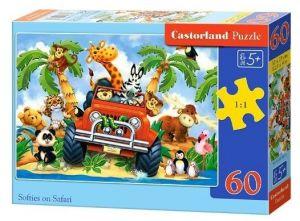 Puzzle Castorland 60 dílků - Plyšáci na Safari - 06793
