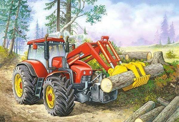Puzzle Castorland 60 dílků - Práce v lese - 06601