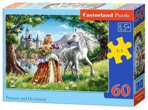 Puzzle Castorland 60 dílků - Princezna a kůň - 06830