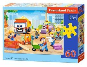 Puzzle Castorland 60 dílků - veselá stavba - 06809
