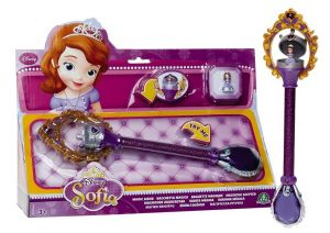 Sofie První - kouzelná hůlka se světlem a zvukem a mini panenkou