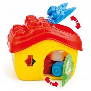 Clementoni Clemmy baby Kyblík domeček s otevírací střechou a kostičkami