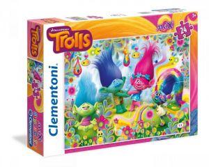 CLEMENTONI Dětské Maxi puzzle  24 dílků Trollové  24058