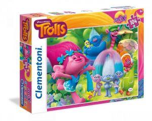 CLEMENTONI Dětské MAXI puzzle Trollové 104 dílků 23981