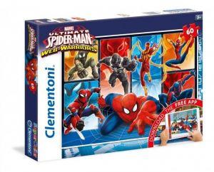 Clementoni puzzle Supercolor 60 dílků s aplikací Spiderman 26937