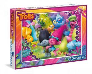 Dětské puzzle Clementoni  60 dílků  - Trollové   08422
