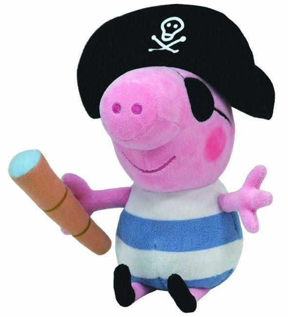 Prasátko Peppa - plyšák TOM pirát 25 cm - Peppa Pig TM Toys