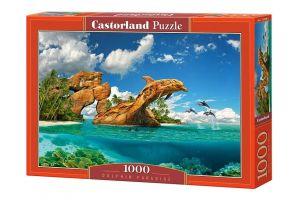 Puzzle Castorland  1000 dílků -   Ráj delfínů  103508