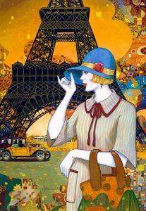 Puzzle Castorland 1000 dílků - Uličkami Paříže 103591