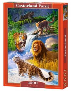 Puzzle Castorland  1000 dílků -  velké kočky  103553