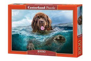 Puzzle Castorland  1000 dílků -  Velký hnědý pes 103478