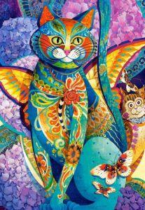 Puzzle Castorland 1500 dílků - Malovaná kočka 151448