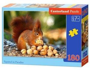 Puzzle Castorland 180 dílků - veverka v ráji  018277