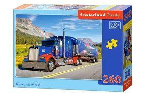 Puzzle Castorland 260 dílků - Kamión  Kenworth W 900  27316