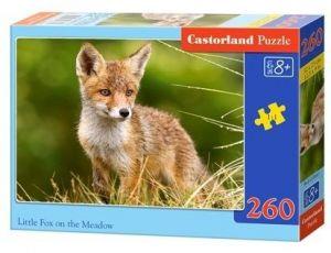 Puzzle Castorland 260 dílků - malá liška na louce  27354