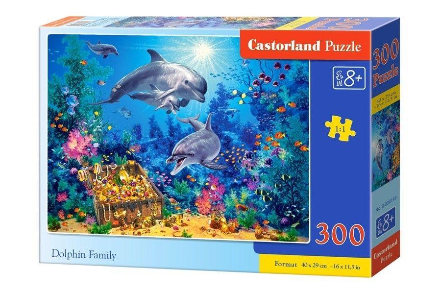 Puzzle Castorland 300 dílků - Delfíní rodinka 030149