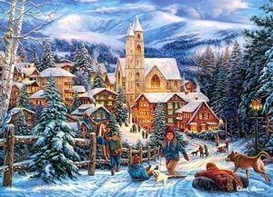 Puzzle Castorland 300 dílků - na saních do města 030194