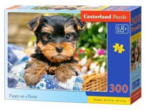 Puzzle Castorland 300 dílků - štěňátko v košíku  030187