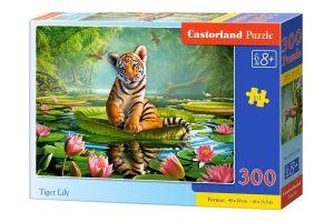 Puzzle Castorland 300 dílků - Tygřík na leknínu 030156