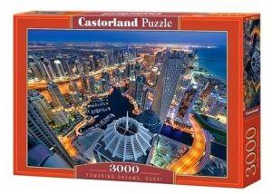 Puzzle Castorland 3000 dílků  - Pohled na noční Dubaj  300457