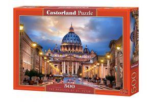 Puzzle Castorland 500 dílků - Bazilika svatého Petra  52349