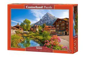 Puzzle Castorland 500 dílků - Kandersteg Švýcarsko 52363