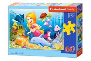 Puzzle Castorland 60 dílků - malá mořská víla  06854