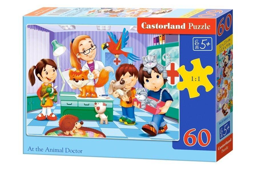 Puzzle Castorland 60 dílků - návštěva veterináře 06847